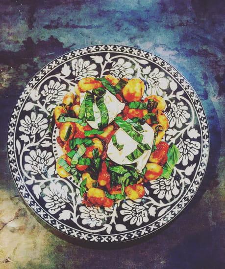 Plat : Baba Kitchen  - Gnocchi à la burrata -   © c