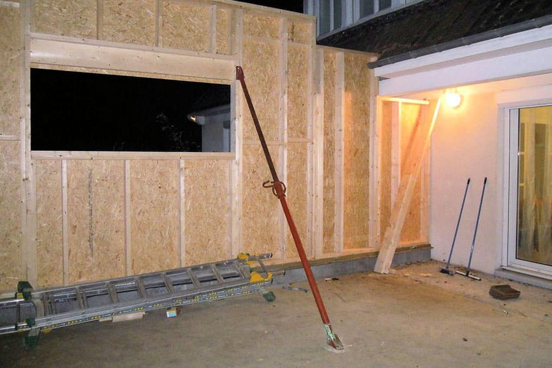 Montage des murs for Extension maison 3 ou 4 murs