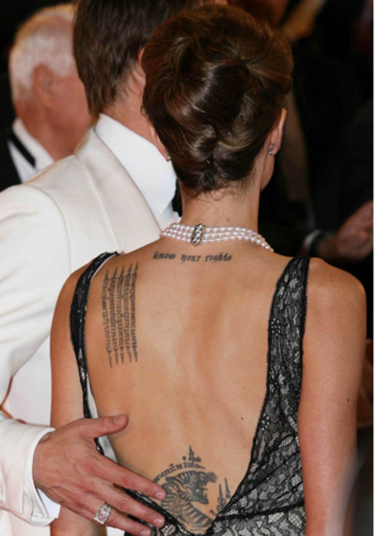 Les Combats D Angelina Jolie Tatoues Sur Son Corps