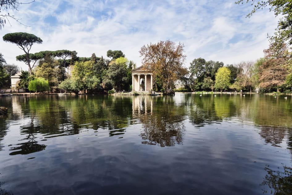 Dans le parc de la Villa Borghese à Rome