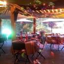 Restaurant : Le piscadori  - La terrasse couverte -
