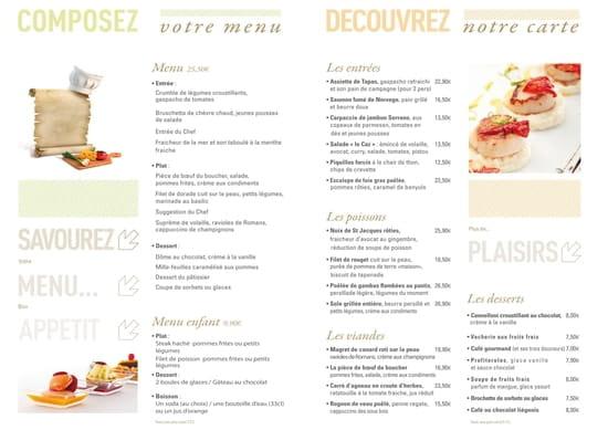 Brasserie la Caz  - carte brasserie le Caz -   © groupe partouche