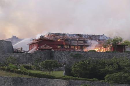incendie chateau shuri okinawa japon