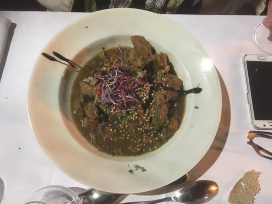 Plat : La Table de Salignac  - Mijoté de veau aux cèpes cuisson basse température risotto de petit épeautre -