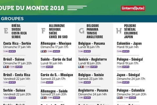 Calendrier Coupe du monde: quel programme pour ce lundi 25juin?