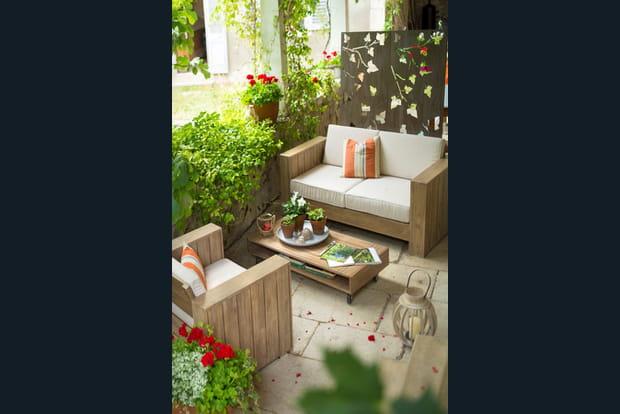 Une terrasse de campagne