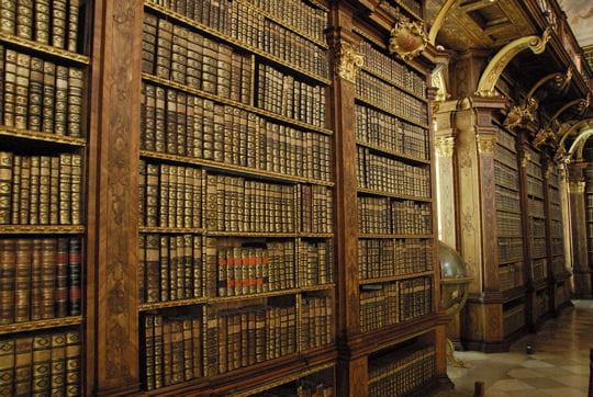 La bibliothèque de l'abbaye de Melk en Autriche