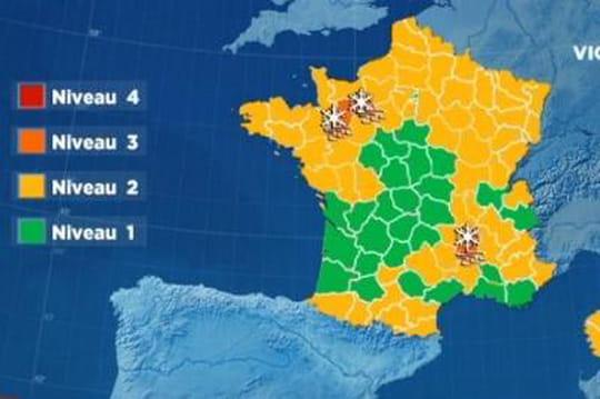 Météo France: trois départements en vigilance orange à cause du froid