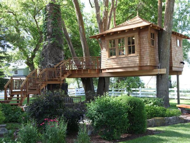 cabane pour enfant comment la construire. Black Bedroom Furniture Sets. Home Design Ideas