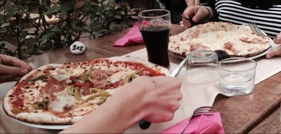 Plat : Villa Roma  - Pizza Tifflette (en haut) et basquaise (en bas) -