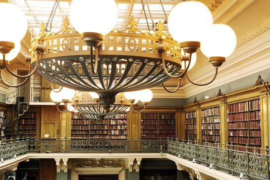 La bilbliothèque Victoria and Albert Museum à Londres
