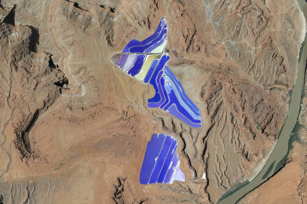Potash pond dans l'Utah