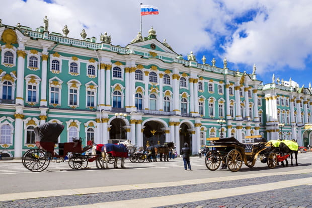 Le musée de l'Ermitage à Saint-Pétersbourg