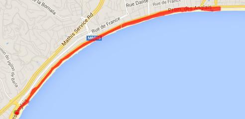 Nice : la promenade des Anglais (8,5km)