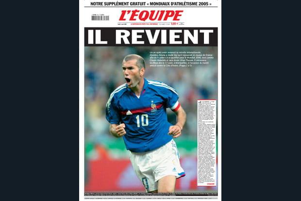 """Retour de Zidane en 2005 : """"Il revient !"""""""