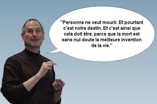 Steve Jobs, s'exprimant sur la maladie et la mort