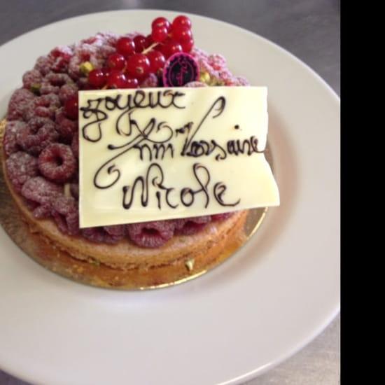 Dessert : Le Bistroquet de Meudon  - Mon joli gâteau d'anniversaire merci chef vos gâteaux son merveilleux  -