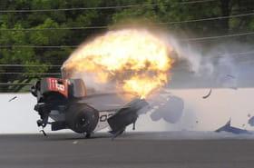 Sébastien Bourdais: miraculé après un accident à Indianapolis [VIDEO]