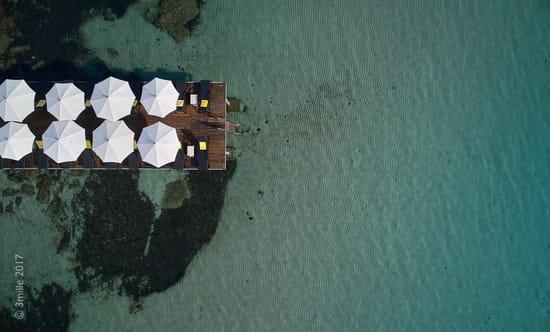 Le Pavillon Beach  - Vue aérienne -   © imperial garoupe