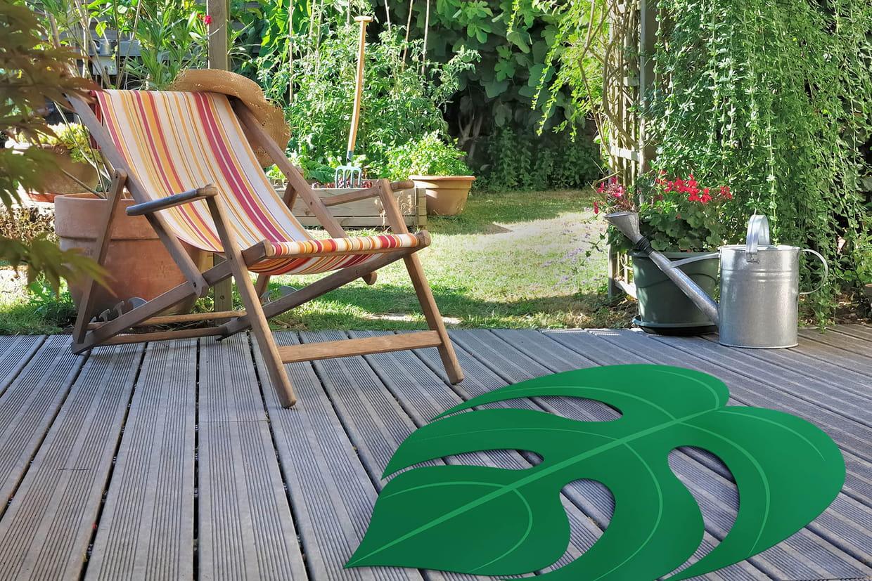 un tapis pour la terrasse. Black Bedroom Furniture Sets. Home Design Ideas