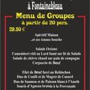 Le Chalet de la Caverne des Brigand  - Menu de groupe à 29.50 € -
