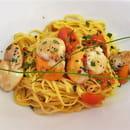 Plat : Costa d'Amalfi  - Taglioni aux Saint-Jacques -   © @ Restaurant Costa d'Amalfi
