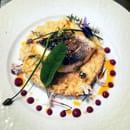 Un Goût de Nature  - Risotto de bisque de homard, pavé de bar de ligne rôti, fleurs du potager -