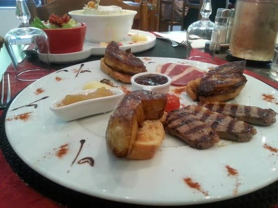 Plat : Le Somail  - Escalopes de foie gras poêlées  -