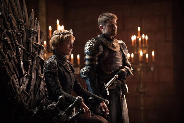 Cersei sur le trône et Jaime à ses côtés