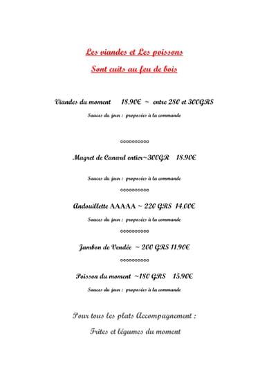 Plat : Le Bistrot  - viandes et poissons cuisson au feu de bois -   © le bistrot