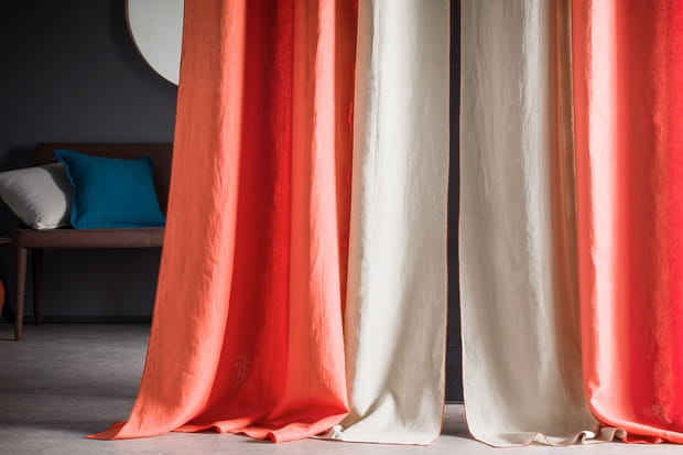 des rideaux en lin lav. Black Bedroom Furniture Sets. Home Design Ideas