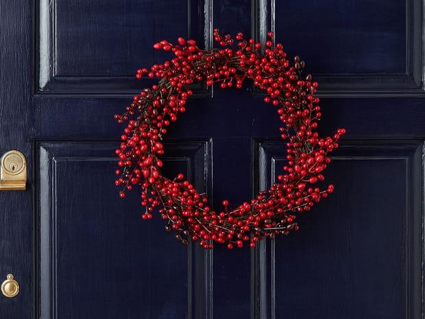 La couronne de Noël: reine des décorations festives