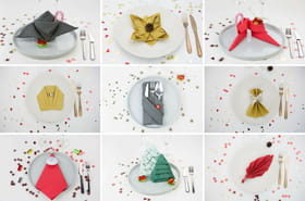 12pliages de serviettes faciles pour votre table de Noël