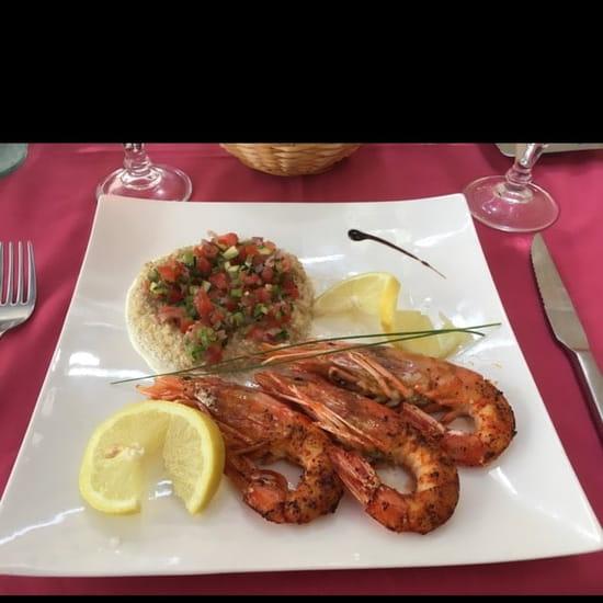 Plat : L'Oleiade  - Gambas grillées -