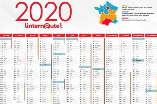 Vacances scolaires: le calendrier 2020-2021, quelles sont les dates pour la zone A, B, C?
