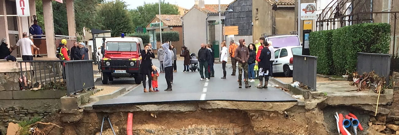 Les images spectaculaires des inondations dans l'Aude