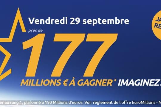 Resultat Euromillion du 29septembre 2017: le tirage a-t-il donné un grand gagnant?