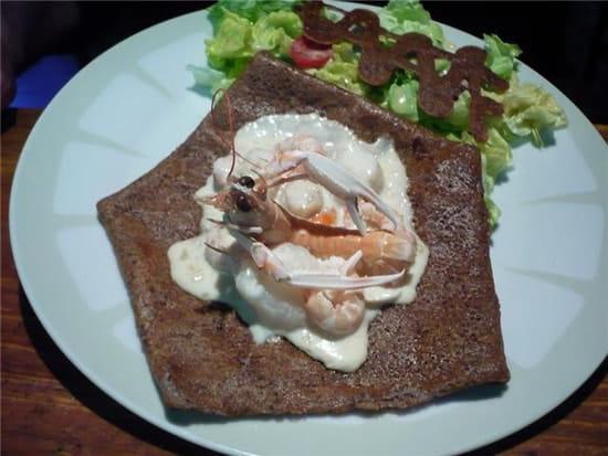 Crêperie la Chandeleur  - St jacques et langoustines avec fondue de poireaux cuisinées au cidre -   © maczl