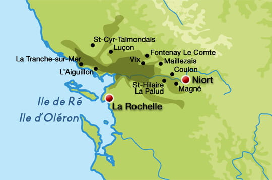 carte du marais poitevin Carte du Marais poitevin