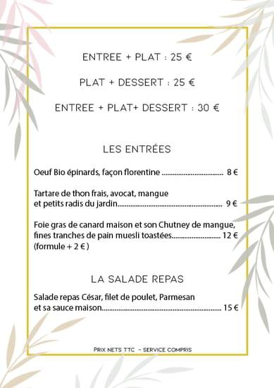 Entrée : Le Paseo - Cocktail club & restaurant (Ex : LE SUD)  - Menu fin Avril -   © Le Paseo - Restaurant