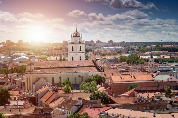 Le centre historique de Vilnius en Lituanie