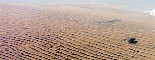 Champ de dunes à perte de vue