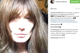 Carla Bruni: son étrange hommage à Bob Dylan
