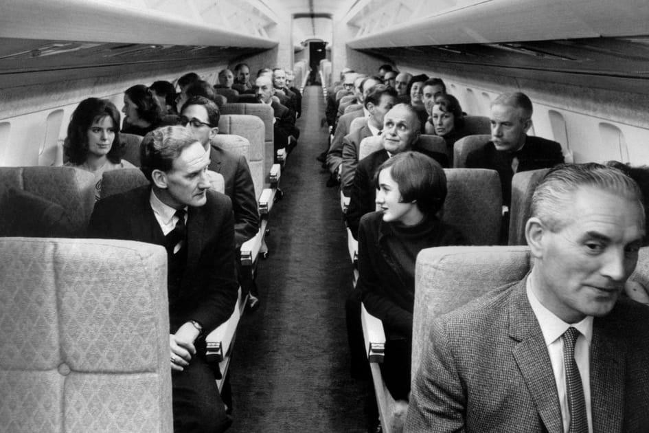 La cabine du Concorde dans les années 70