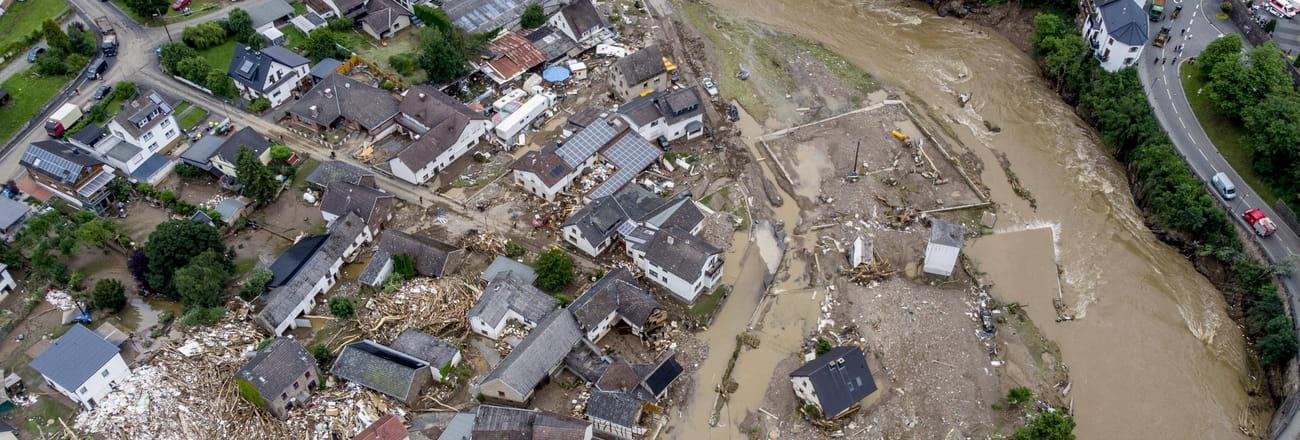 PHOTO. Les images des inondations en Allemagne et en Belgique