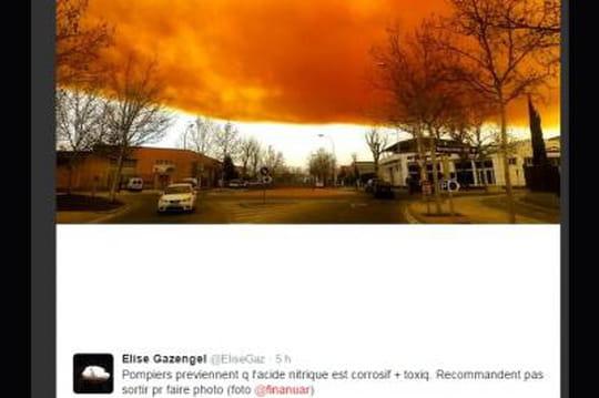 """Espagne: les images impressionnantes du nuage """"toxique"""" près de Barcelone"""