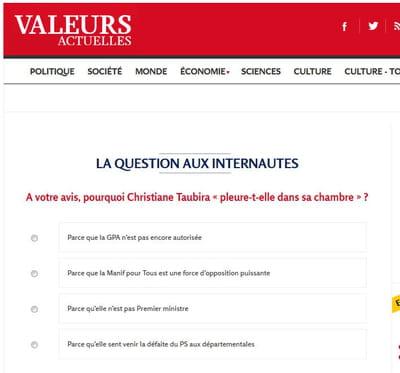 sondage valeurs