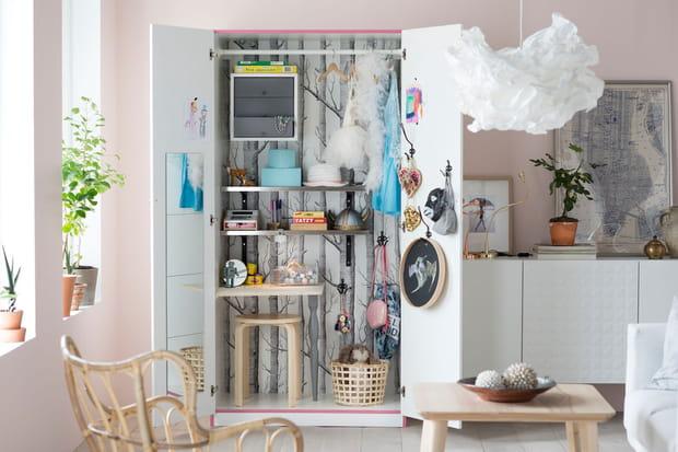 Une armoire transform e en bureau - Transformer une armoire en bureau ...