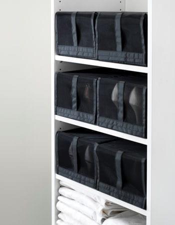 des bo tes chaussures en tissu. Black Bedroom Furniture Sets. Home Design Ideas