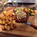 Plat : La Gourmandise  - Entrecôte sauce cèpes  -